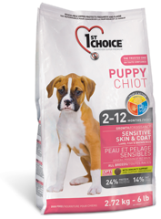 1St Choice Puppy Sensitive Skin & Coat Breeds