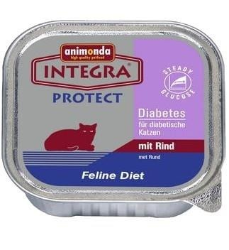 Animonda Cat Integra Protect Diabetes wołowina tacka 100g